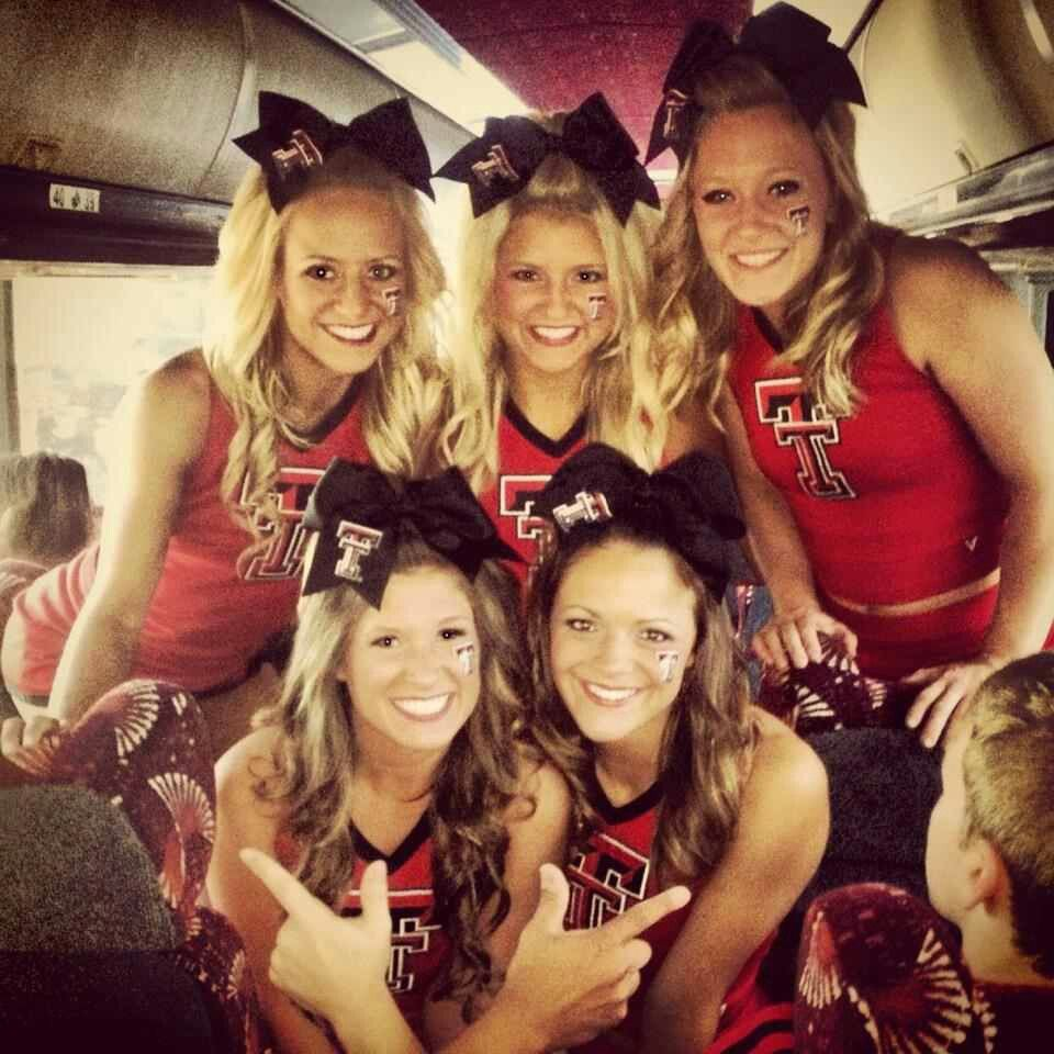 Pin By Texas Tech Athletics On Band Cheer Dance Texas Tech Volleyball College Cheerleading College Cheer