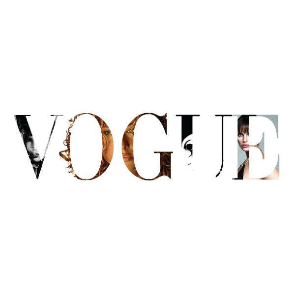 Vogue Logo Liked On Polyvore Featuring Text, Words