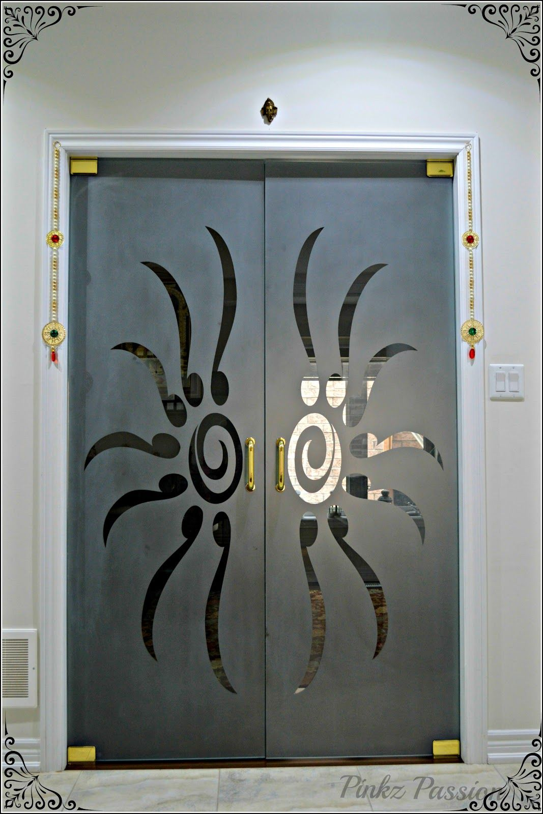 Pinkz Passion Pooja Room Door Design Door Glass Design Pooja Rooms