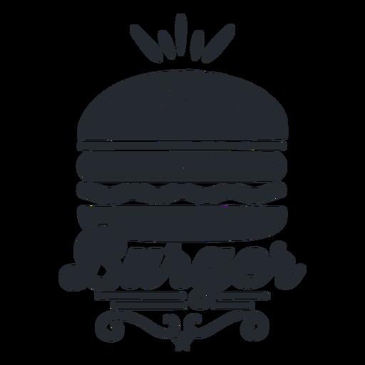 Burger Logo Food Logotype Silhouette Ad Paid Ad Logo Silhouette Logotype Burger Restaurant Logo Design Logo Food Burger