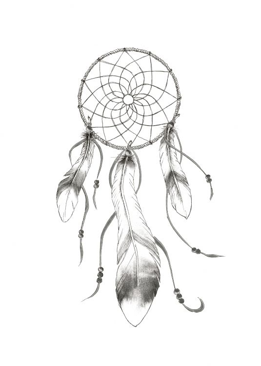 Black And White Poster With A Dreamcatcher Dream Catcher Art Dream Catcher Print Dream Catcher