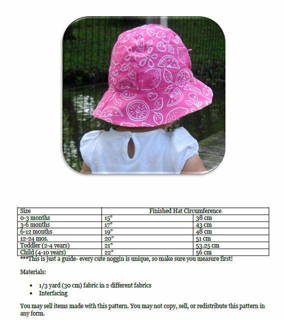 4 in 1 Sun Hat: Sun Hat Pattern PDF Sewing by PeekabooPatternShop ...