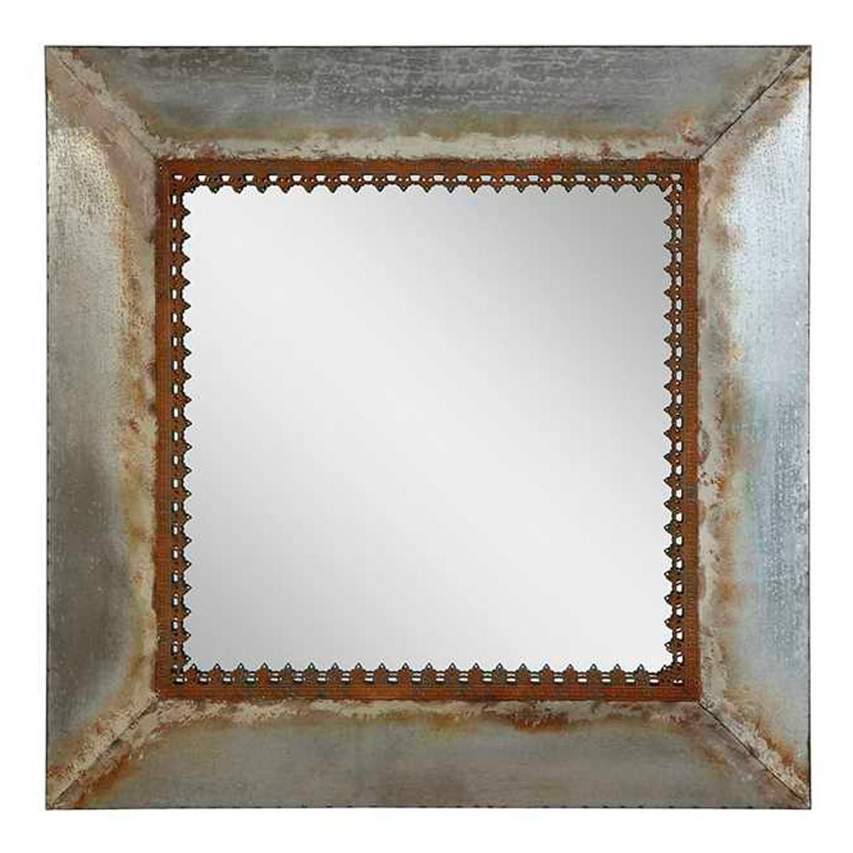 Loft Style Window Mirror Rustic Square Metal Frame Mirror Julie 39s Master Loft