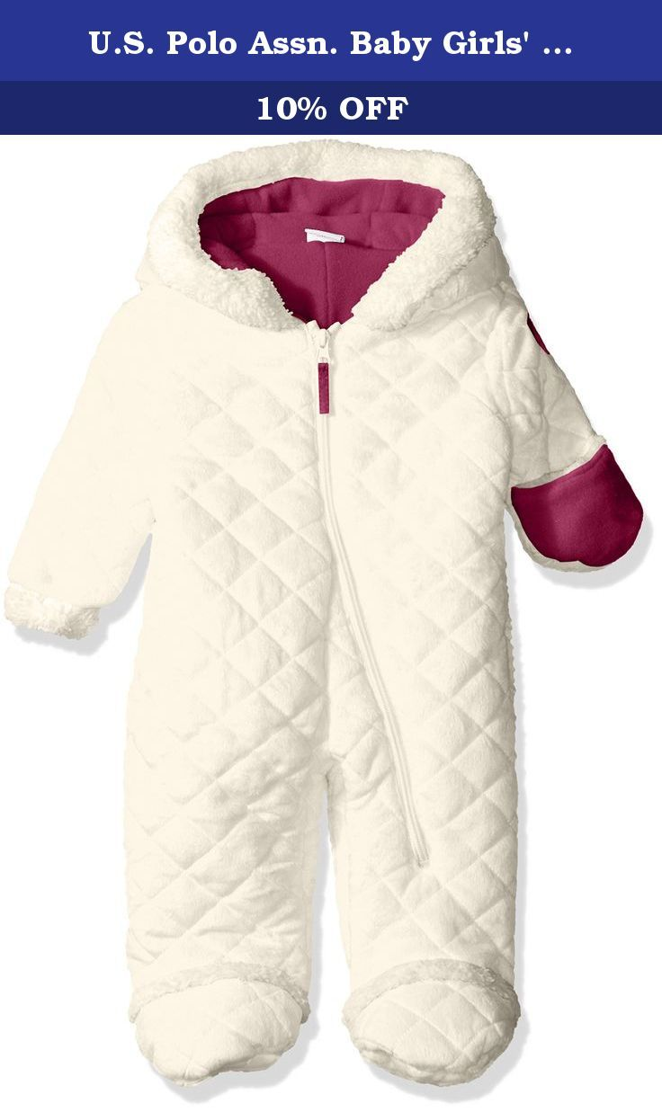 6c1075eee U.S. Polo Assn. Baby Girls  Quilted Faux Fur Pram