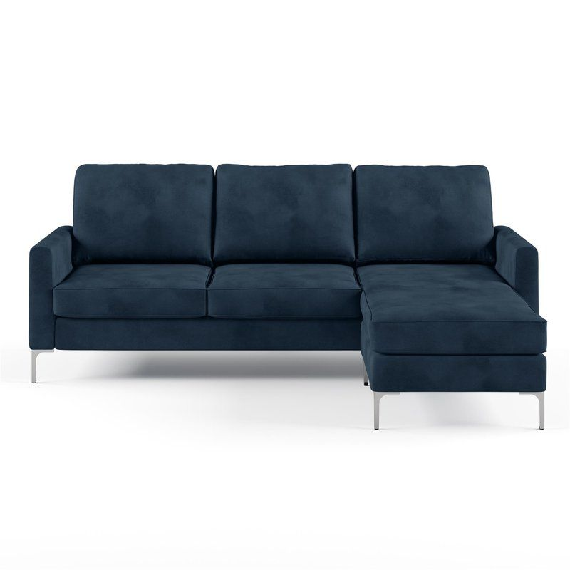 Chapman 81 63 Reversible Sectional Velvet Sectional Sectional Sofa Beds For Small Spaces