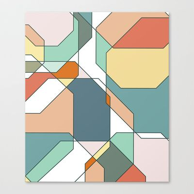 Desert Polygons Canvas Print by The Color & Shape