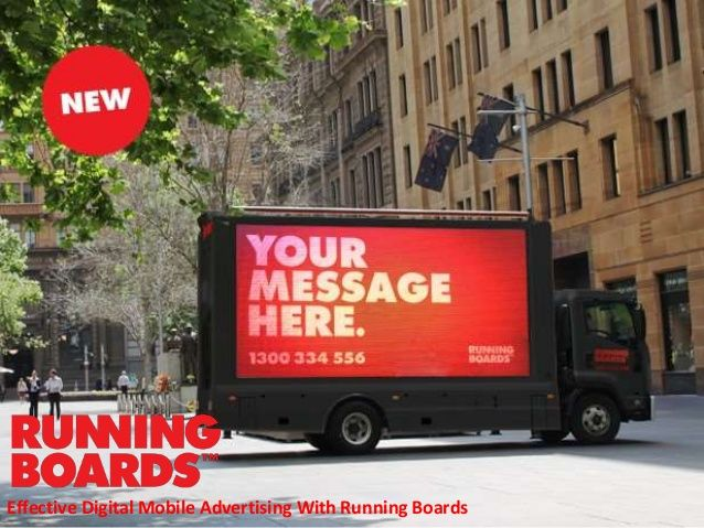 Effective digital mobile advertising with running boards