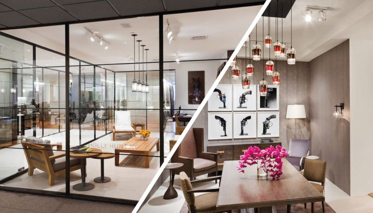 Holly Hunt is on leader of USA showrooms and collections in luxury