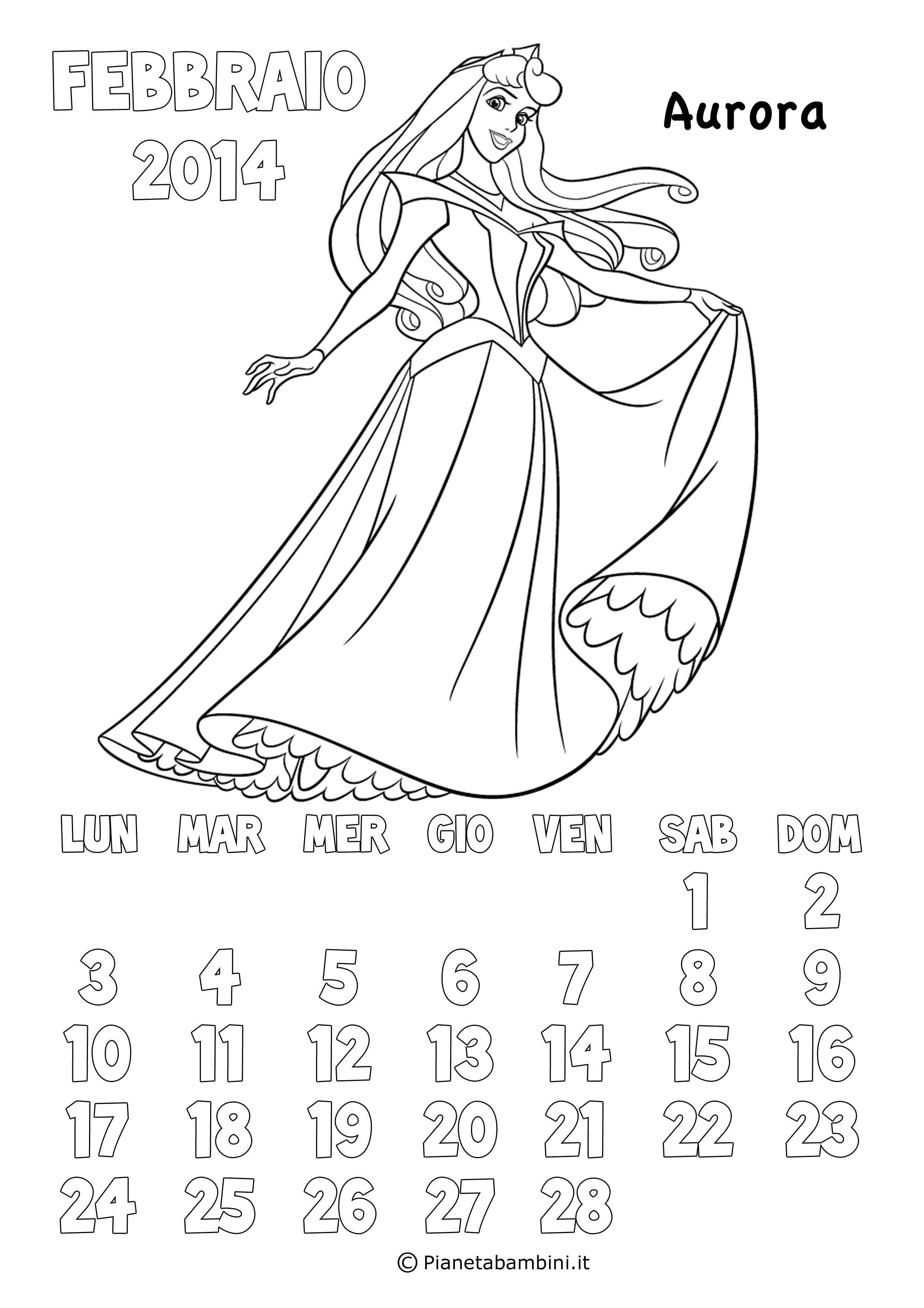 Calendario 2017 Delle Principesse Disney Da Colorare Nel 2020 Principesse Disney Principesse Disney