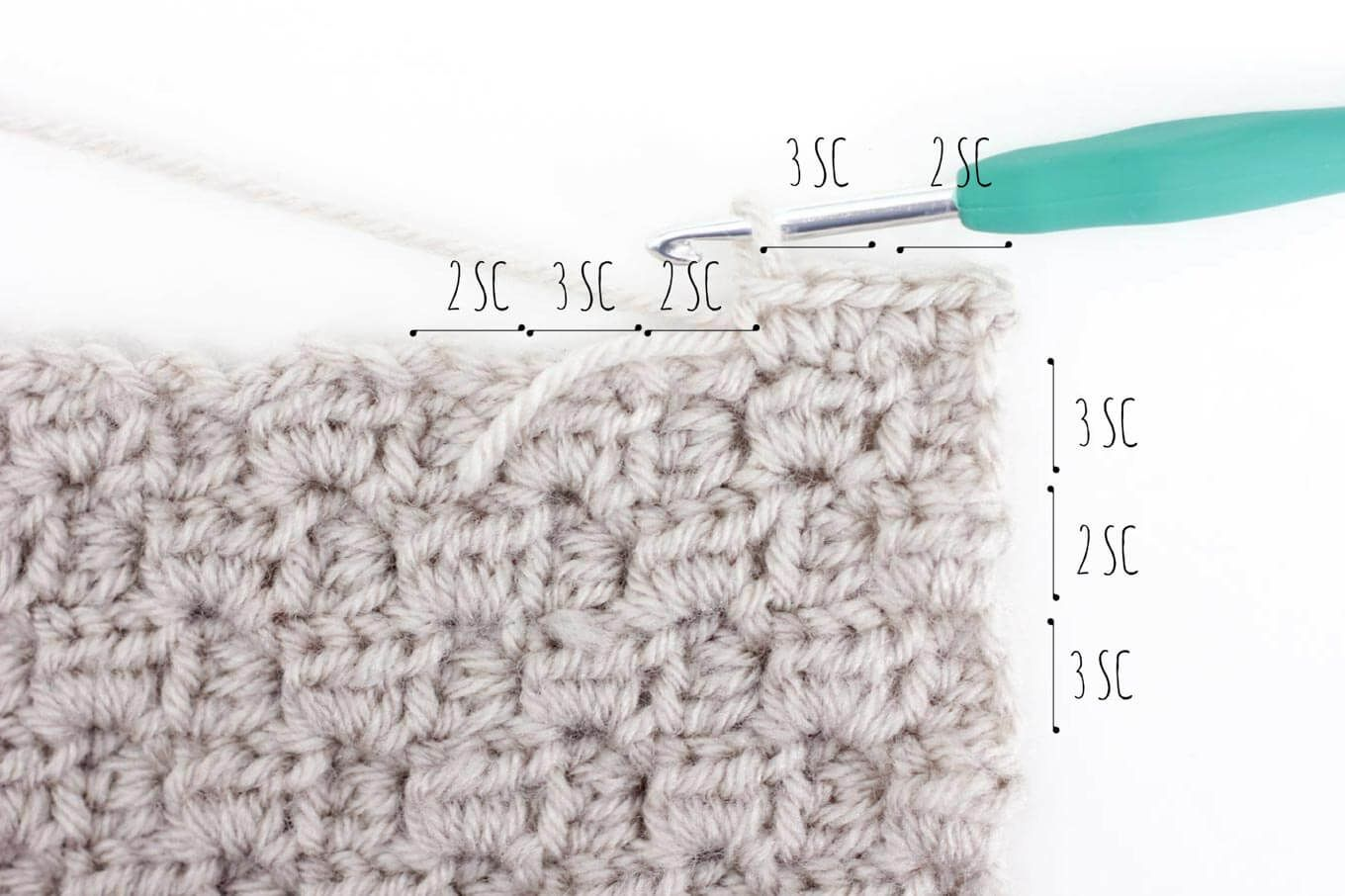 How To Add a Border to a C2C Afghan Block - Detailed Photo Tutorial