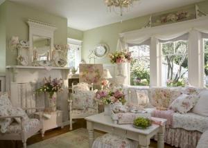 Come decorare l'ingresso di casa per natale: Arredamento Country Provenzale Immagini Shabby Chic Living Room Shabby Chic Living Room Design Shabby Chic Room