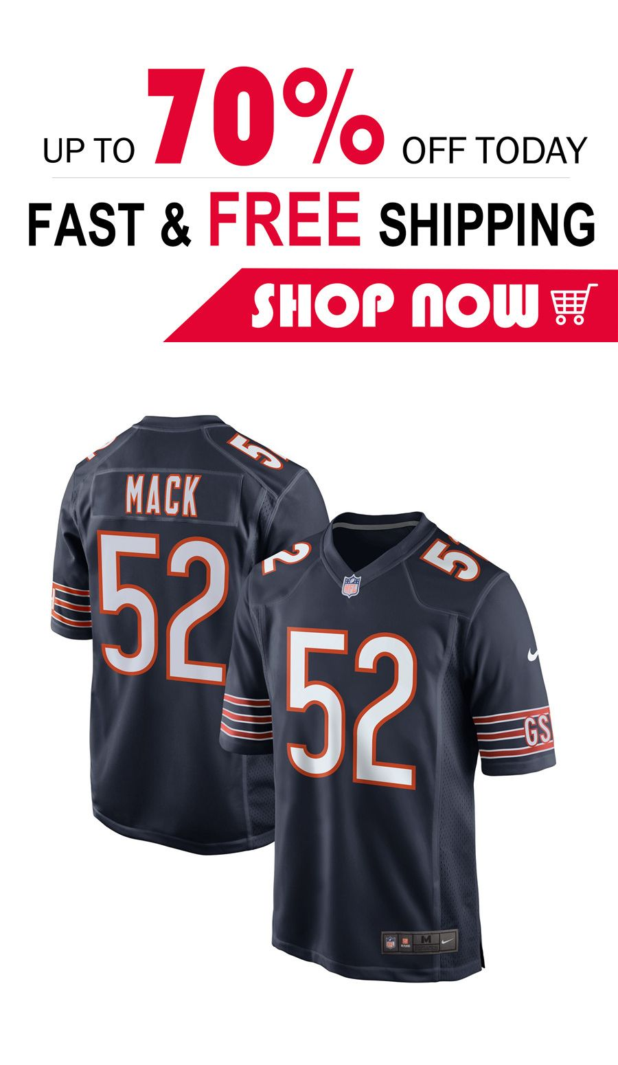timeless design 0aff9 0a459 men's Chicago Bears custom football Game jersey in 2019 ...