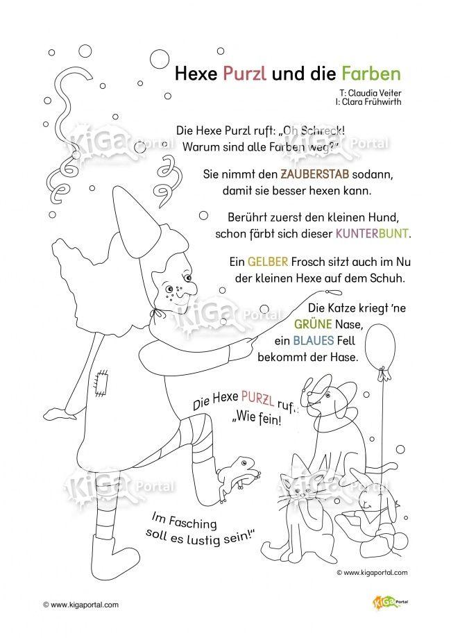 DE-SW-Kindergarten-KiGaPortal-Fasching-Hexe-Hexen-Farbe-Farben-Reim ...