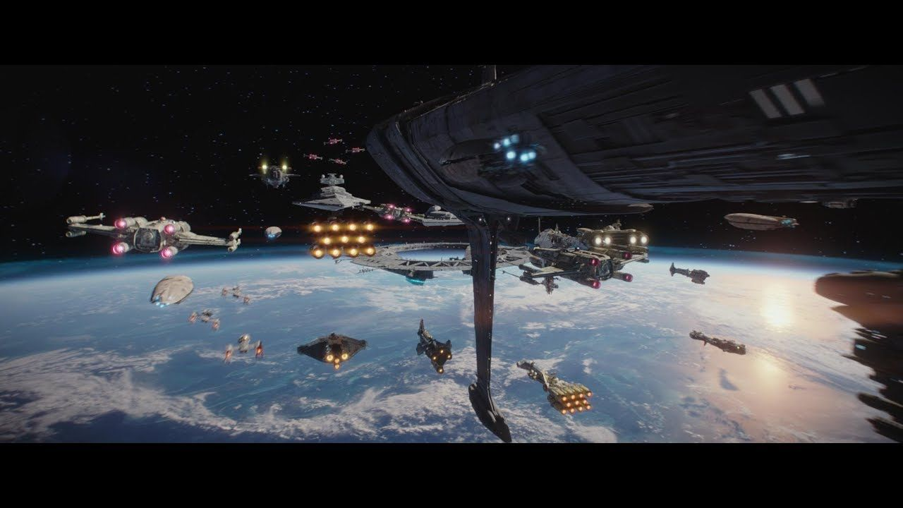 Re Upload Rogue One A Star Wars Story Space Aerial Battle Of Sca Space Battles War Stories Star Wars