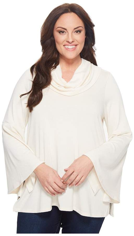 5e099b2f6c3 Karen Kane Plus Plus Size Flare Sleeve Cowl Neck Top Women s Clothing  Easy  fit fabrication