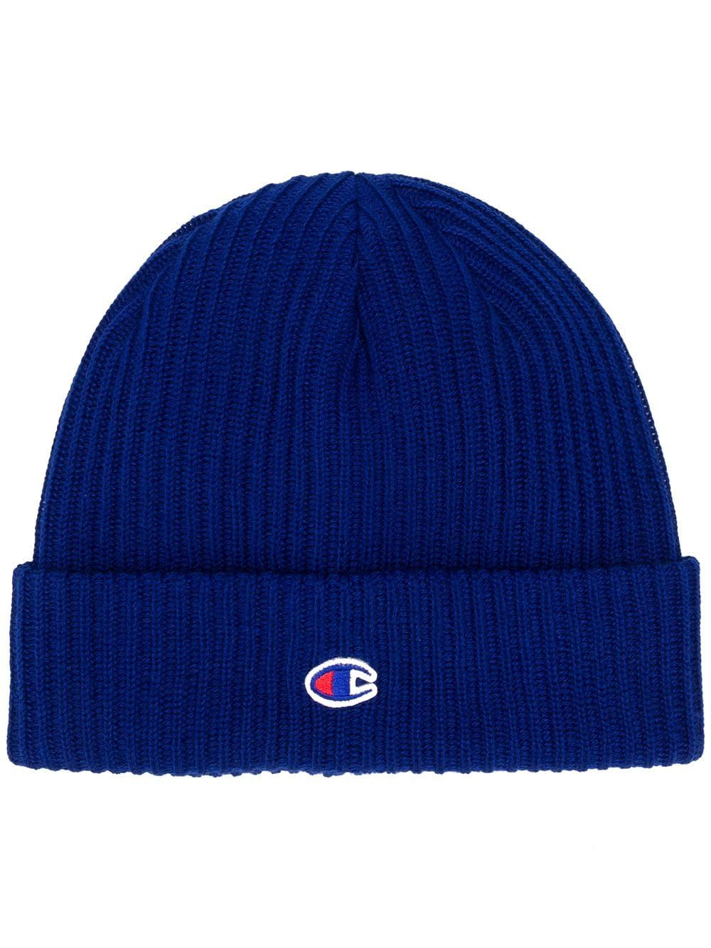 9251814aa5a CHAMPION CHAMPION LOGO KNIT BEANIE - BLUE.  champion