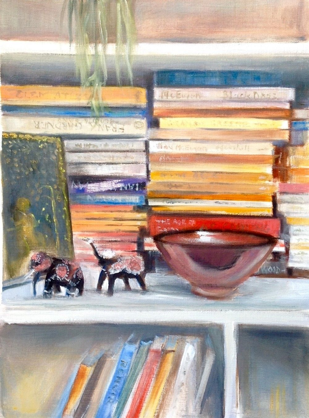 Image Result For How To Paint Watercolor Bookshelf Watercolor