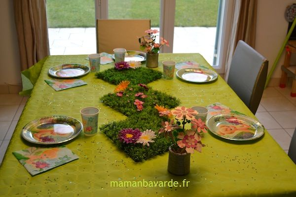 D co table f e clochette des f es des princesses des for Table jardin beauty
