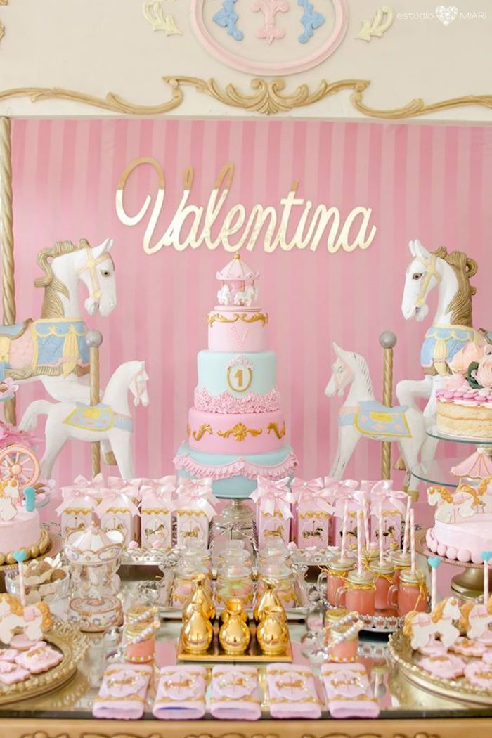 Enchanted Carousel Birthday Party Party Trends Carousel