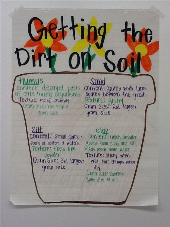 Here 39 s a good anchor chart on the components of soil for Soil 5th grade