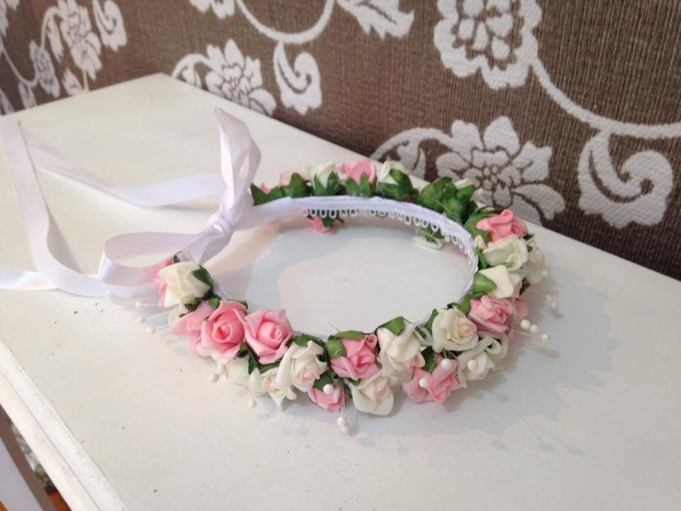 linda e delicada tiarinha para dama ou florista 2a931b7aa19