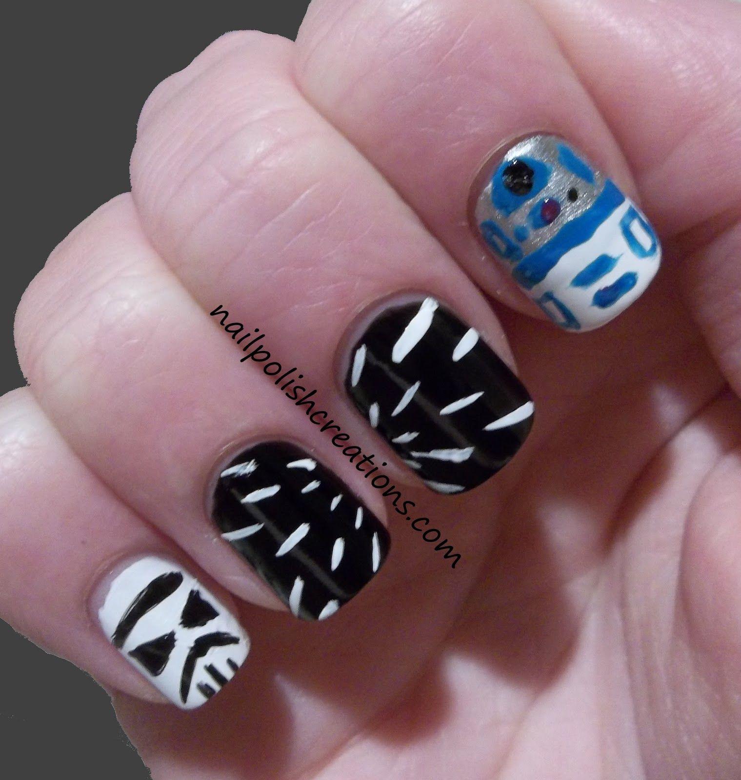 Star Wars nail art | Art of All Sorts | Pinterest | Star wars nails ...