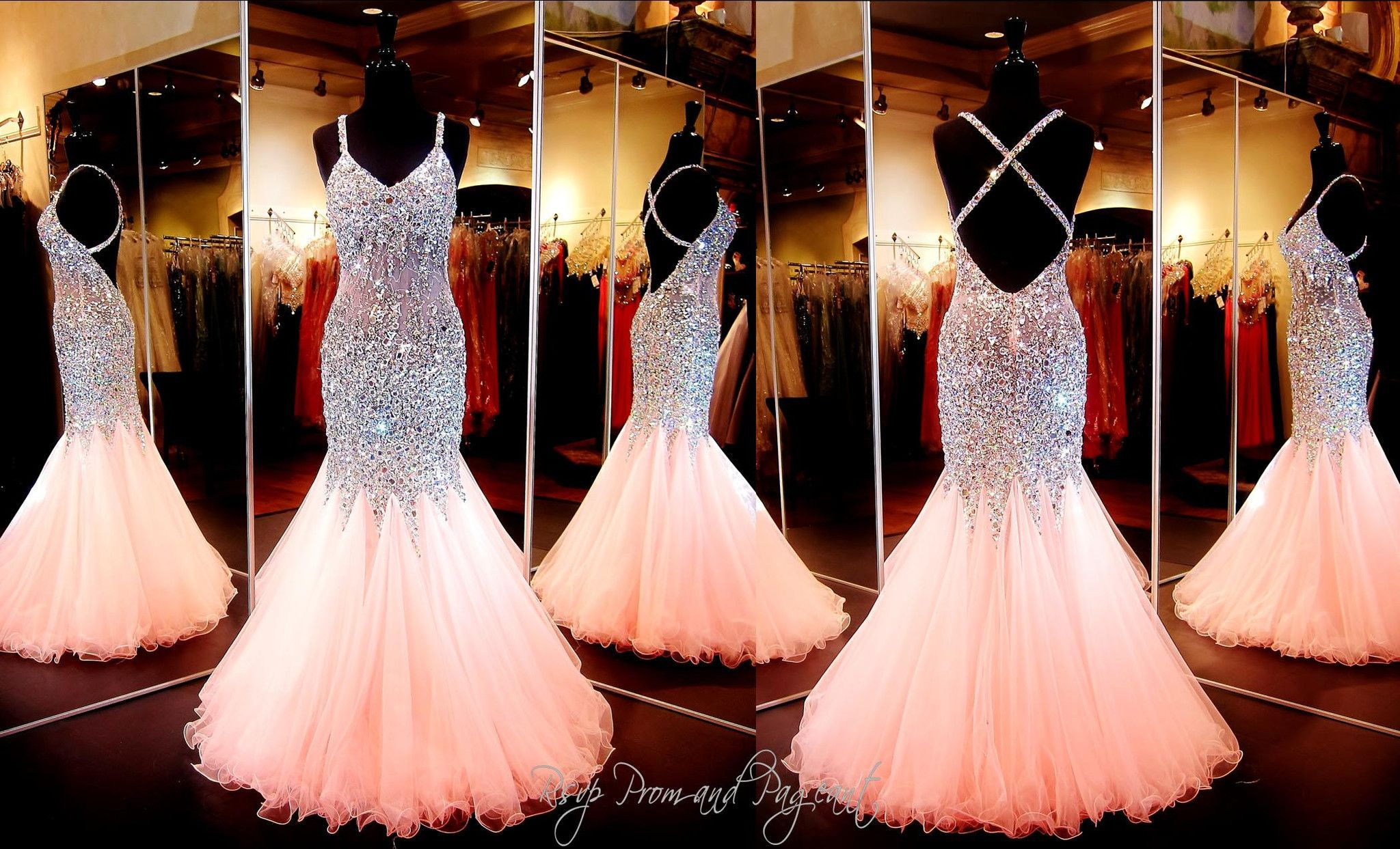 Coral Beaded Mermaid Prom Dress Open Back ONLY At Rsvp And Pageant Atlanta GA This Is A MUST HAVE The Beads Stones Jewels