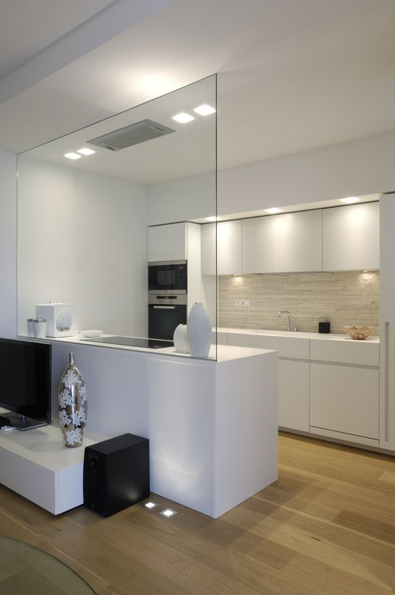 White minimal kitchen project design deposito creativo