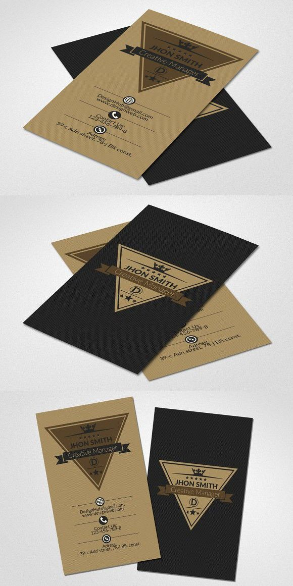 Vertical retro business card business cards card templates and vertical retro business card reheart Images