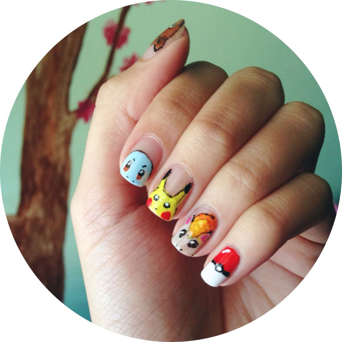 Pokmon Nail Art Part I Ft Vulpix Squirtle Pikachu Ponyta