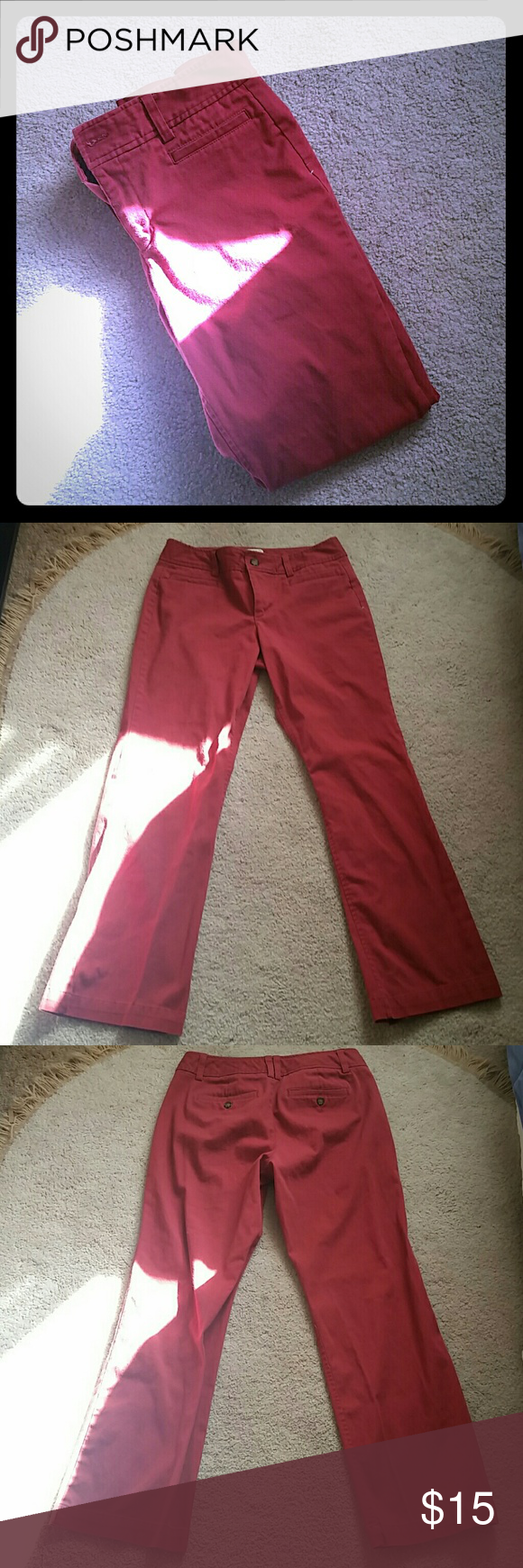 Bass Dress Pants These have been worn once so they are still like new!  These are their Heritage fit style pants 98% cotton 2% spandex Bass Pants