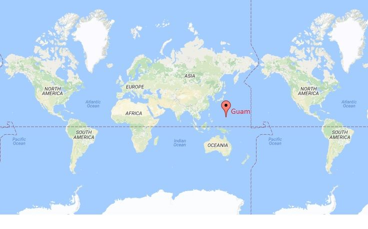 Where Is Guam United States US Pinterest Country - Guam on a us map