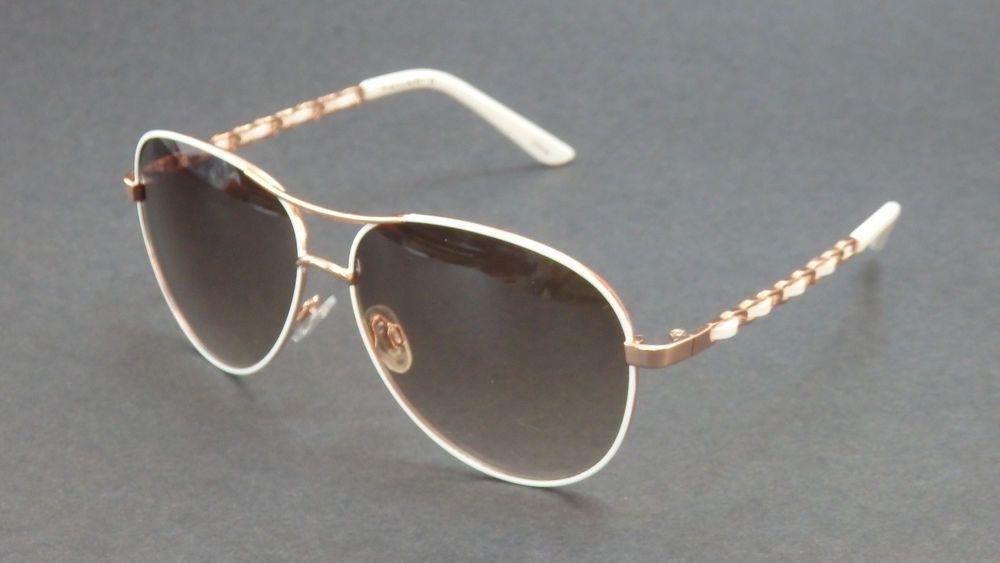 22fd4b19301 ELIE TAHARI ROSE GOLD WHITE AVIATOR SUNNIES SUNGLASSES SHADES 649 ...