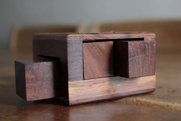 Wooden Puzzle - 3D Shuffle in Solid Sheesham