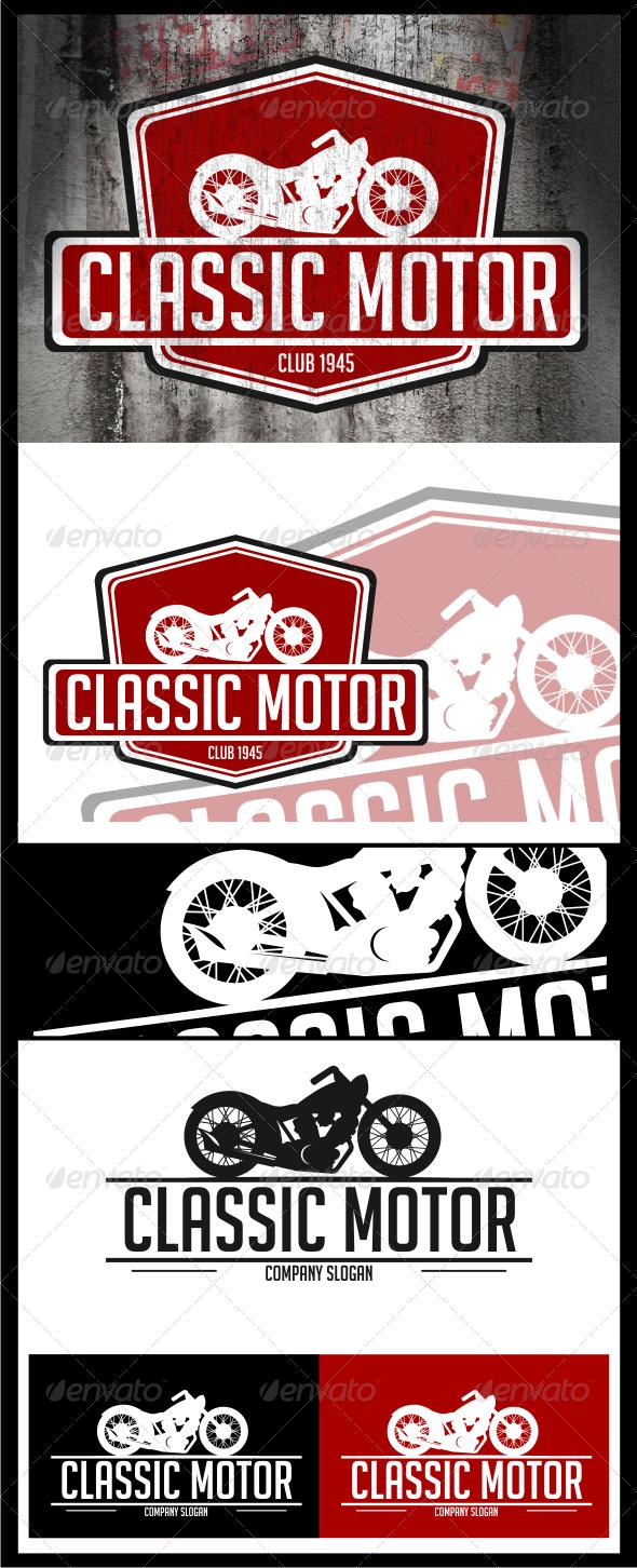 Car club sticker designs - Classic Motor Logo Templates