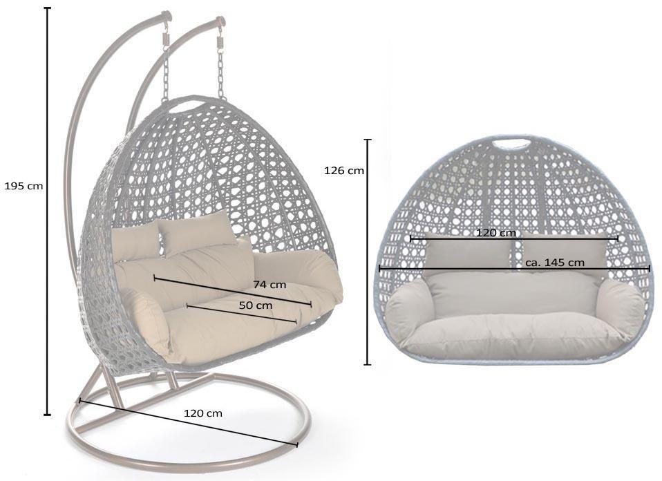2 Persoons Hangstoel.2 Persoons Hangstoel Duo White Wicker Hangstoel Hangstoel