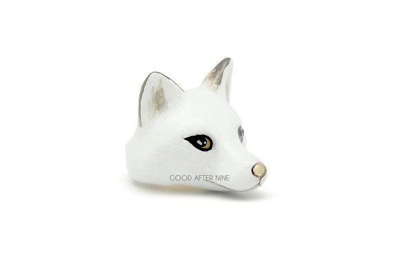 Snow Fox anello anello di animali di GOODAFTERNINE su Etsy