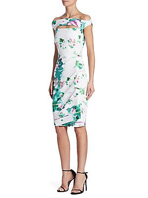 82602cb3905 La Petite Robe di Chiara Boni Melania Printed Cutout Dress