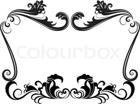 Black And White Vintage Floral Frame Template Stock Vector Vintage Floral Frame Frame Template Black And White Vintage