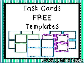 blank task card template - free task card templates task cards pinterest more