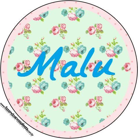 6070d8ca6 Molde redondo Floral azul e rosa - ideal para latinhas, adesivos, etc.