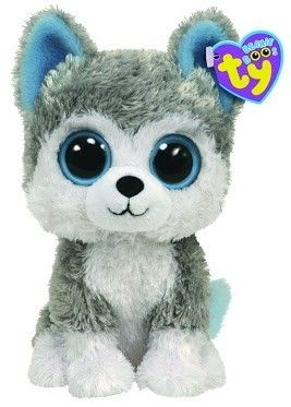 Ty Beanie Boo s Siberian Husky Puppy Dog Blue Eyes