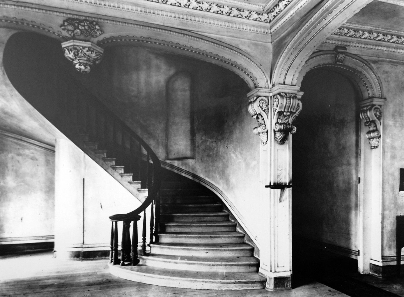 Stairway in Chatsworth Plantation, Baton Rouge, Louisiana