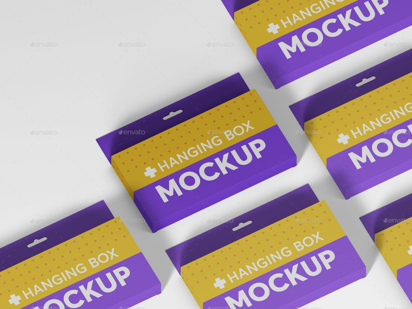 Download Hanging Wide Rectangle Box Mockups Wide Hanging Rectangle Mockups Box Mockup Graphic Design Layouts Box Packaging Design