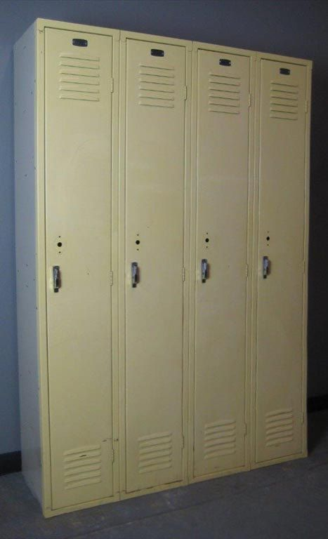 Mellow Yellow Vintage Lockers Decorative The Delicate Shade