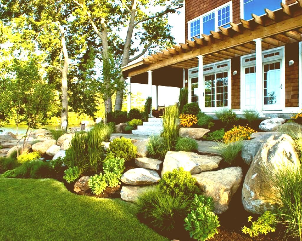 Outdoor Small Front Yard Landscaping Ideas Luxury Big Pots ... on Luxury Front Yard Landscape id=55304