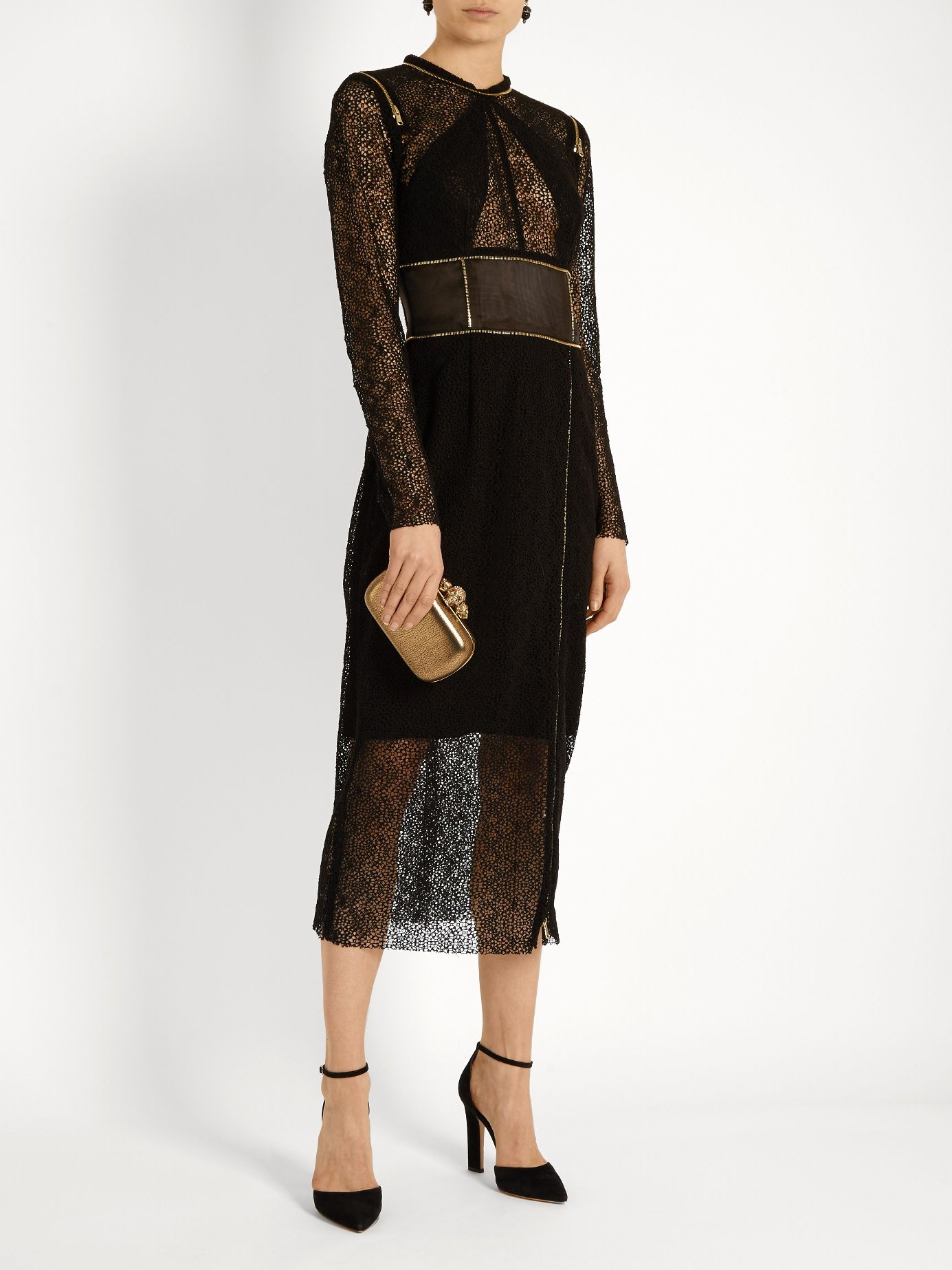 Zip-detail guipure-lace dress Sophie Theallet Ebay Online Free Shipping Purchase Cheap 2018 New ONFPO2