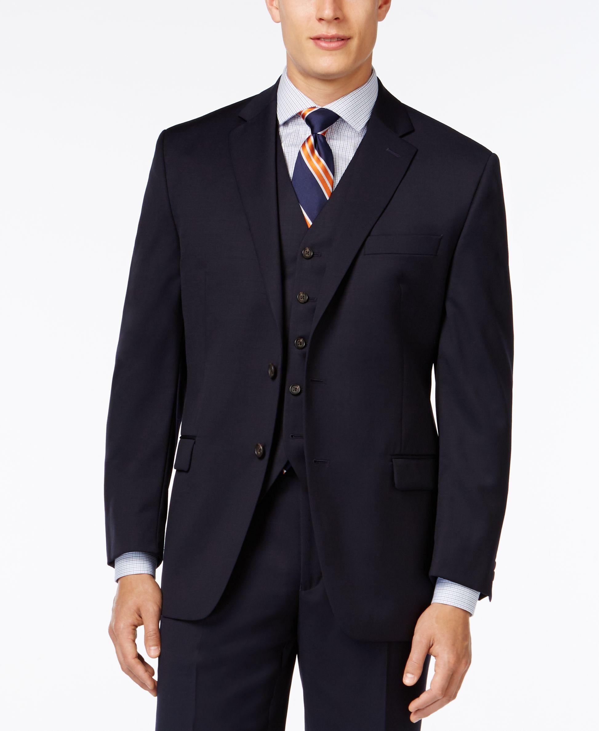 Lauren Ralph Lauren Navy Solid Classic-Fit Jacket