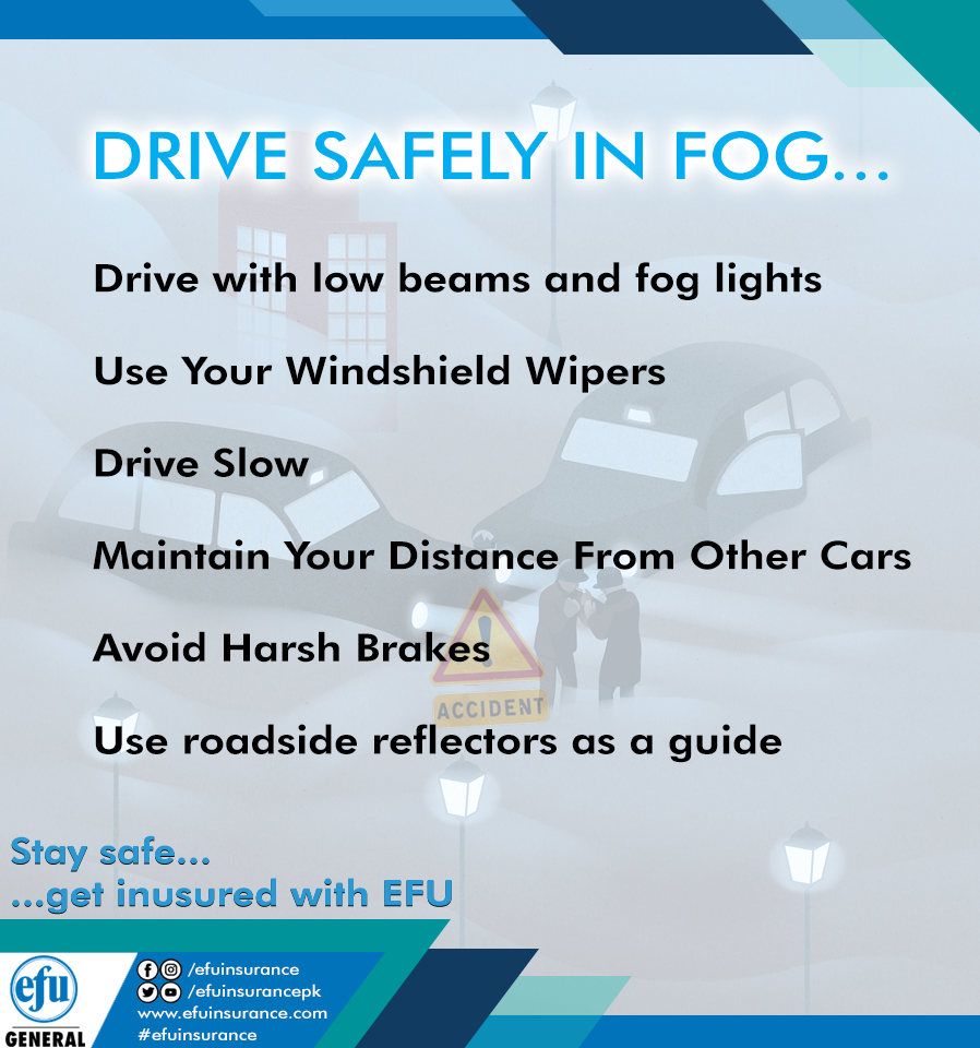 Drive With Low Beams And Fog Lights Use Your Windshield Wipers Drive Slow Maintain Your Distance From Other Cars Avoid Har In 2020 With Images Windshield Wipers Fog Best Insurance