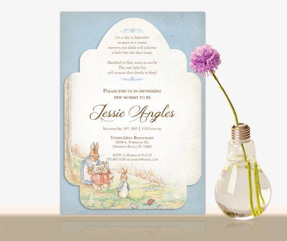 Peter Rabbit Baby Shower Invitation Beatrix By DesignwithSusana